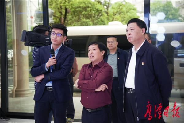 孙菊生率省政府调研组来鹰调研 郭安于秀明分别陪同