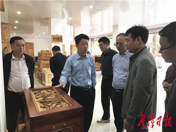 贺喜灿带队调研鹰潭文化产业发展情况