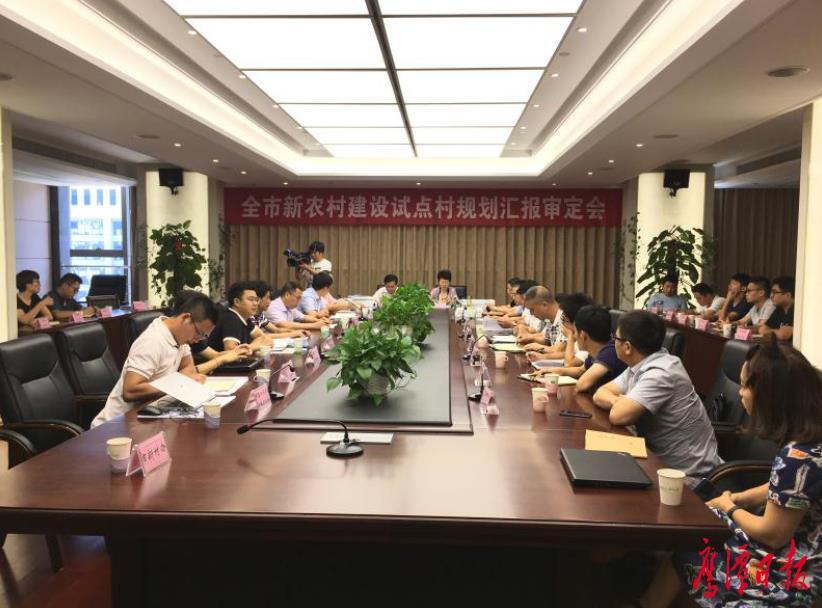鹰潭市召开新农村建设试点村规划汇报审定会