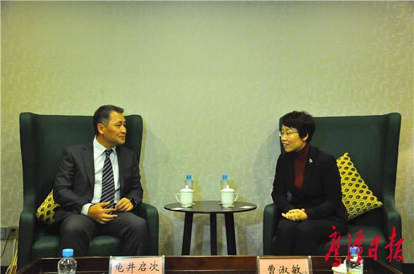 曹淑敏会见日本国驻上海总领事馆首席领事龟井启次