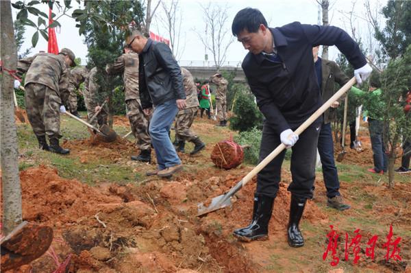 鹰潭市开展义务植树活动 全市已完成整地2.65万亩,完成造林1.98万亩